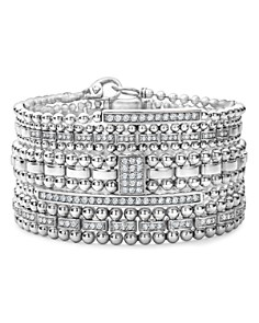 LAGOS Sterling Silver Caviar Spark Diamond Bracelets - Bloomingdale's_0