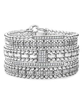 LAGOS - Sterling Silver Caviar Spark Diamond Bracelets