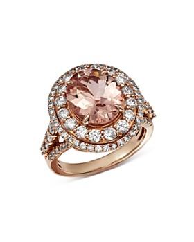 Bloomingdale's - Morganite & Diamond Statement Ring in 14K Rose Gold - 100% Exclusive