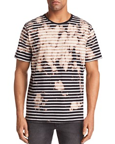 PRPS Goods & Co. Striped Bleached Crewneck Tee - Bloomingdale's_0