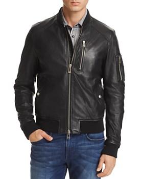 Belstaff - Clenshaw Leather Bomber Jacket
