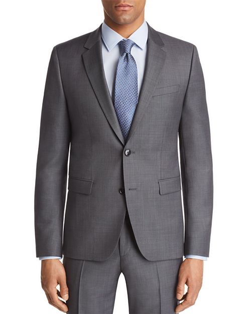 HUGO - Astian Slim Fit Birdseye Suit Jacket