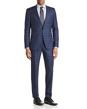 Boss Huge/Genius Slim Fit Box Plaid Suit