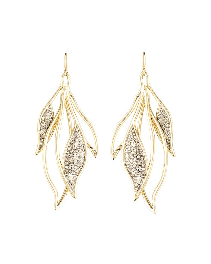 Alexis Bittar - Crystal Encrusted Feather Wire Earrings