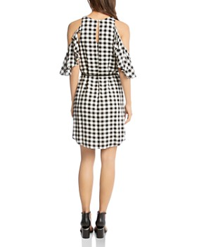 Karen Kane - Gingham Ruffled Cold-Shoulder Dress