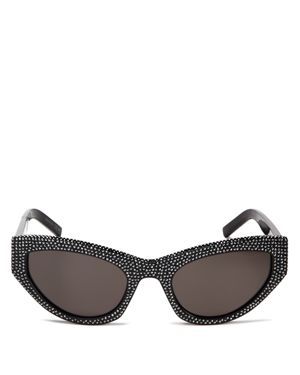 Women'S Grace Embellished Cat Eye Sunglasses, 54Mm, Black/ Hematite Pave