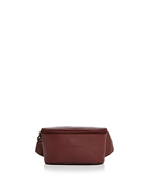 Longchamp Le Foulonne Leather Belt Bag In Red Lacquer Silver