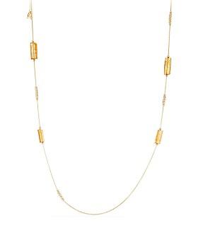 David Yurman - Bijoux Fine Bead & Chain Necklace with Imperial Topaz