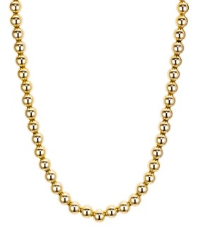 """AQUA - Beaded Necklace in 18K Gold-Plated Sterling Silver or Sterling Silver, 16"""" - 100% Exclusive"""
