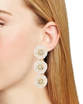 AQUA - Raffia Multi-Floral Drop Earrings - 100% Exclusive