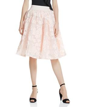 Maje - Joshua Petal-Appliqué Midi Skirt