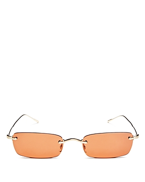 07e723c7b2 OLIVER PEOPLES Daveigh Rimless Rectangle Metal Sunglasses