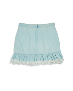 BLANKNYC - Girls' Frayed & Ruffled Faux Wrap Skirt - Big Kid