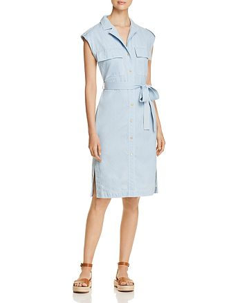 Donna Karan - Chambray Shirt Dress