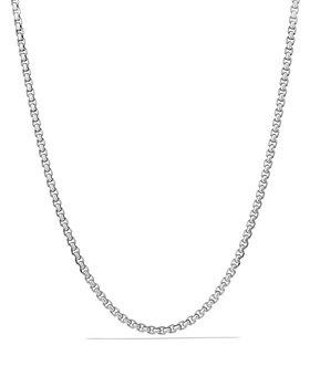 "David Yurman - Large Box Chain Necklace 4.8mm, 22"""
