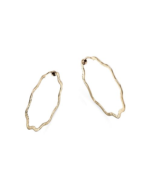 Bloomingdale S Wavy Hammered Endless Hoop Earrings In 14k Yellow Gold 100 Exclusive