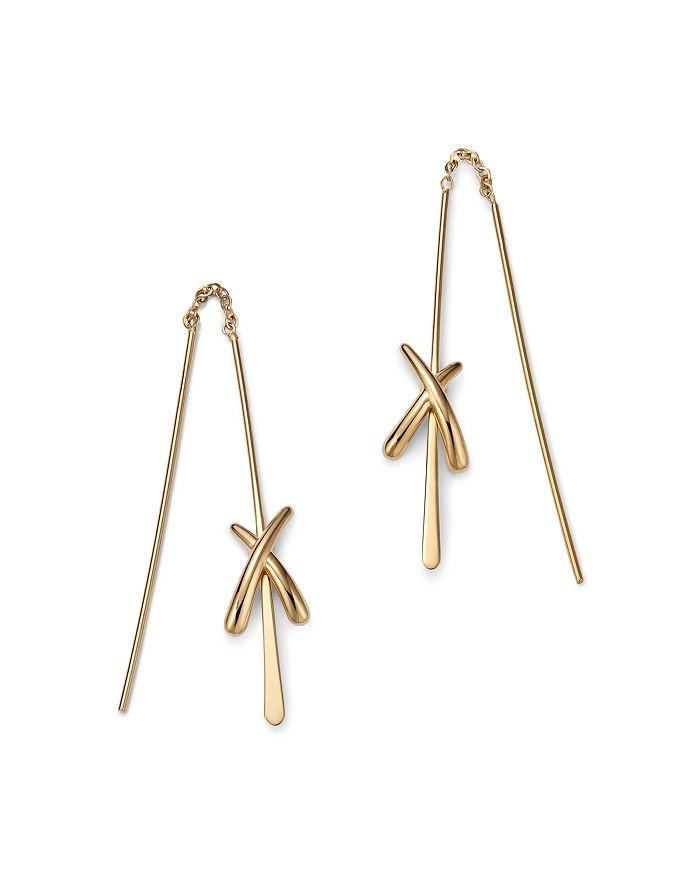 Bloomingdale's - X Threader Earrings in 14K Yellow Gold - 100% Exclusive