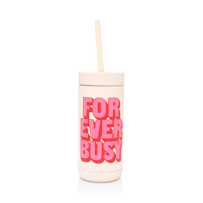 ban.do - Forever Busy Stainless Steel Tumbler with Straw