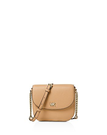 56d19836552 MICHAEL Michael Kors Half Dome Leather Crossbody | Bloomingdale's