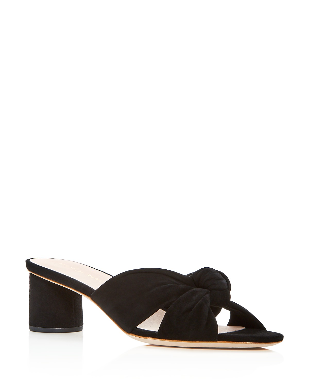Loeffler Randall Women's Celeste Knot Mid Heel Slide Sandals YwARhpz