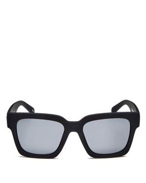 LE SPECS 'Weekend Riot' 55Mm Sunglasses - Black Rubber/ Smoke Mono Polar