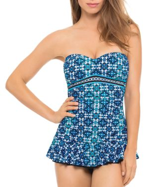 Profile by Gottex Collage Bandeau One Piece Swim Dress