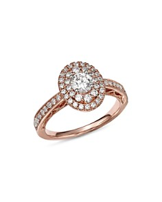 Bloomingdale's - Diamond Double Halo Engagement Ring in 14K Rose Gold, 1.0 ct. t.w. - 100% Exclusive