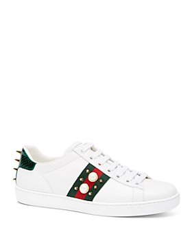 Gucci - Women's Ace Studded Leather Sneaker