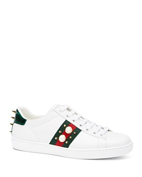 41cb0d6a93f Gucci - Women s Ace Studded Leather Sneaker ...