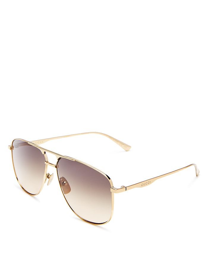 Gucci - Men's Brow Bar Aviator Sunglasses, 64mm