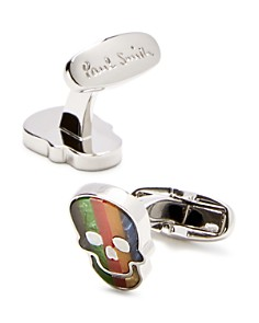 Paul Smith - Multi-Stripe Skull Cufflinks
