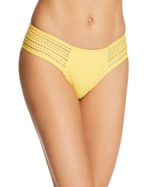 ROBIN PICCONE Perla Side Tab Bikini Bottom in Dandelion