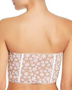 For Love & Lemons - Ditzy Daisy Embroidered Strapless Bustier