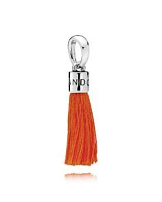 PANDORA Sterling Silver & Fabric Orange Tassel Drop Charm - Bloomingdale's_0
