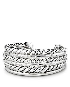 David Yurman - Pure Form Cuff Bracelet with Diamonds