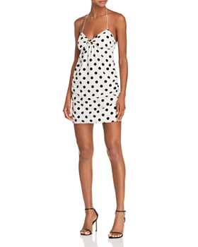 For Love & Lemons - Ashland Dot-Print Halter Dress