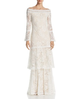 Tadashi Shoji - Off-the-Shoulder Lace Gown