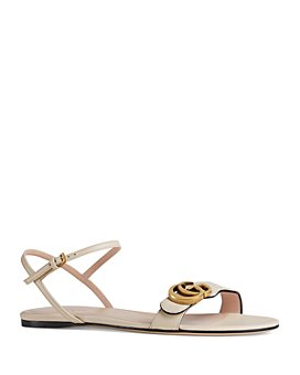 Gucci - Women's Marmont Leather Double G Sandals