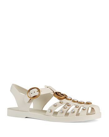 5e9c1ad1680 Gucci - Women s Glossy Crystal Stud Sandals