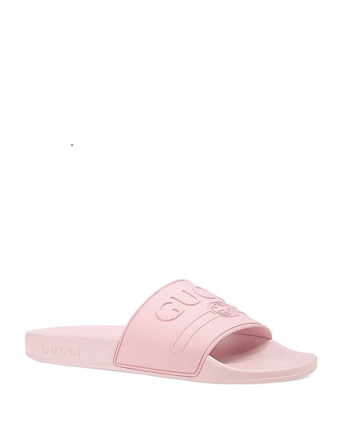 Gucci - Women's Pursuit Logo Slide Sandals