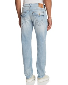True Religion - Geno Slim Straight Fit Jeans in Jet Smoke