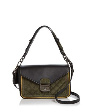 MADEMOISELLE SELLER LEATHER & SUEDE CROSSBODY