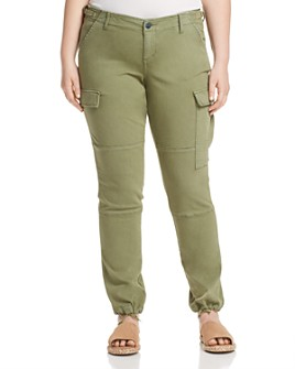 SLINK Jeans Plus - Twill Cargo Jogger Pants