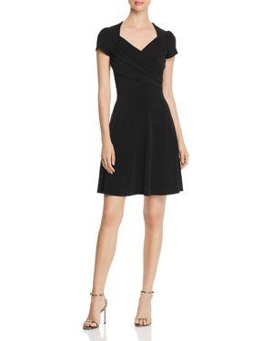 LEOTA Print Jersey Fit & Flare Dress in Black