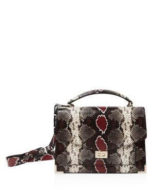 The Kooples Emily Snake-Embossed Leather Maxi Crossbody