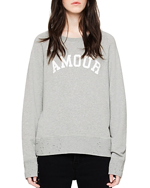 Zadig & Voltaire Distressed Graphic Sweatshirt