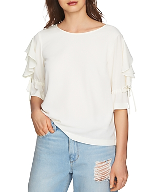 1.state Ruffle-Sleeve Top
