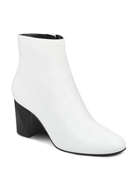 Kendall + Kylie - Women's Hadlee Leather Block Heel Booties - 100% Exclusive