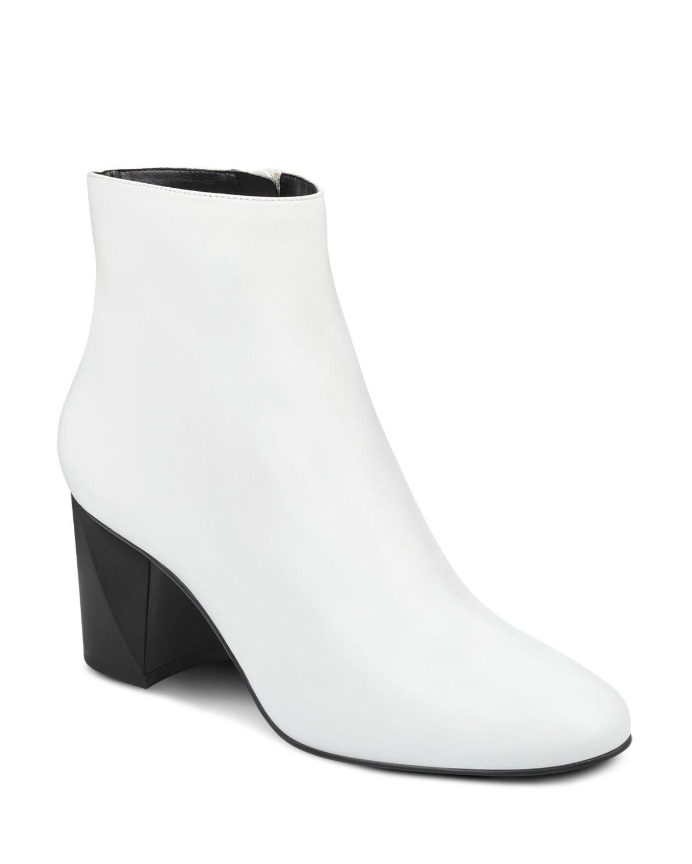 Kendall And Kylie Women's Hadlee Leather Block Heel Booties - 100% Exclusive
