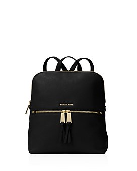 MICHAEL Michael Kors - Rhea Medium Zip Leather Backpack